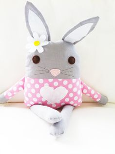 Bunny PDF pattern (Etsy.com): I bought this and made one for The Girl's Easter basket.  It is ADORABLE, and I did it in an afternoon.  I used fleece for the bunny parts, and it's oh-so-soft!