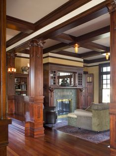 Traditional Living Room Craftsman Design, Pictures, Remodel, Decor and Ideas - page 3