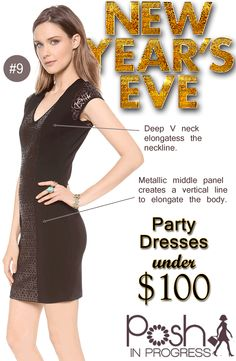 New Years Eve Party Dress Under $100 @B B DAKOTA @Shopbop #fashion #looks #collage #dresses #partydresses