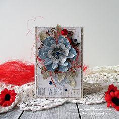 Art-terra: Зимняя открытка с цветком