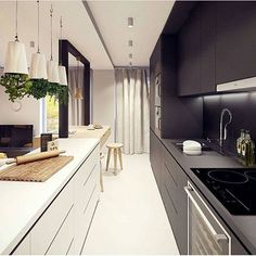 22 STYLISH LONG NARROW KITCHEN IDEAS | Window, Kitchens and Spaces