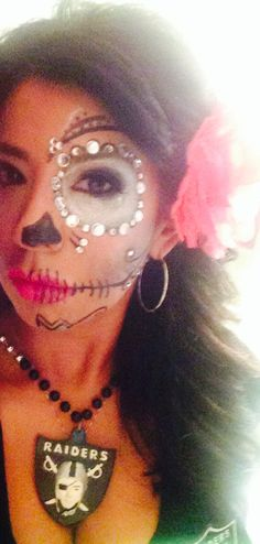 Oakland Raiders Day Of Dead Makeup