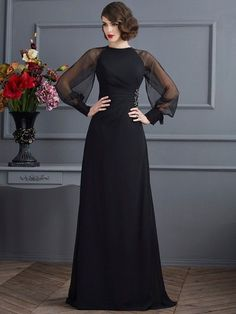 Prom Dress Beautiful, Fashion Sheath/Column Long Sleeves Beading Scoop Long Chiffon Dresses Discover your dream prom dress. Our collection features affordable prom dresses, chiffon prom gowns, sexy formal gowns and more. Find your 2020 prom dress Dresses Elegant, Satin Dresses, Beautiful Dresses, Formal Dresses, Wedding Dresses, Chiffon Dresses, Chiffon Vestidos, Tulle Wedding, Bride Dresses