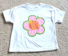 New Adorable Originals Big Sister Flower White T Shirt Sz Small 2-3T Toddler #AdorableOriginals #Everyday
