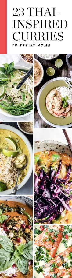 25 Thai-Inspired Curries to Try At Home. 25 Thai-Inspired Curries to Try At Home. Easy Thai Recipes, Thai Curry Recipes, Vegetarian Recipes Easy, Easy Chicken Recipes, Clean Eating Recipes, Vegetable Recipes, Meat Recipes, Asian Recipes, Mexican Food Recipes