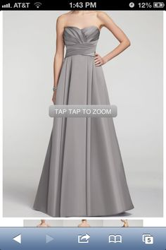 David's Bridal bridesmaid dress new style The dress I might get for Brits wedding but in Malibu blue