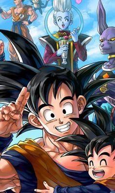 Goku, Gohan, Whis, and Beerus from the Dragon Ball Super anime Dragon Ball Gt, Manga Dbz, Manga Dragon, Thanos Avengers, Akira, Super Anime, Anime Comics, Anime Art, Cartoon