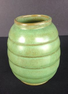 Ringed Vase #12, a Frankoma Pottery piece dated ca. 1936-38.