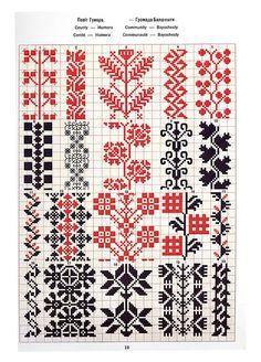 Folk Embroidery — Ukrainian and Romanian embroidery of. Blackwork Embroidery, Folk Embroidery, Vintage Embroidery, Cross Stitch Embroidery, Embroidery Patterns, Cross Stitch Borders, Cross Stitch Designs, Cross Stitching, Cross Stitch Patterns
