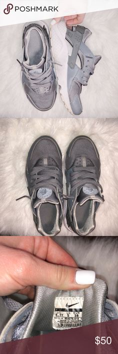 686341e94d1d5 Nike Gray Huraches Huraches in great used condition. Need a bit of cleaning  but could