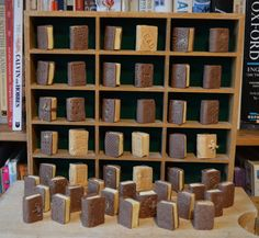 A whole library made out of chocolate http://www.playingbythebook.net/2017/10/09/the-children-who-loved-chocolate-books/