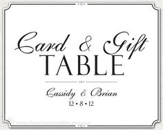 Wedding Gift Table Sign Wording : ... Wedding Collection Wedding Pinterest Gift Table Signs, Wedding