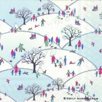 2084 Servilleta decorada Navidad
