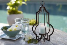 PartyLite's stunning Marrakech Hanging Votive Holder can also sit table-top!