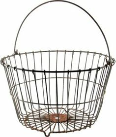 One Kings Lane - VMF - Decorative Accessories - Large Wire Egg Basket