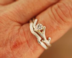 This is one I really want   Bud Branch with Moissanite and Band,engagement ring,alternative engagement ring,twig ring,twig engagement ring,branch and,twig band by TeriLeeJewelry on Etsy https://www.etsy.com/listing/235705939/bud-branch-with-moissanite-and