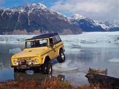 1969 Ford Bronco Front View Mountains