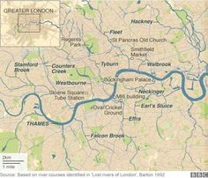 Lost Rivers  of London that are now incorporated into the sewers  BBC