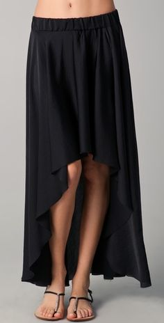 asymmetrical hem skirt - this is sewable...