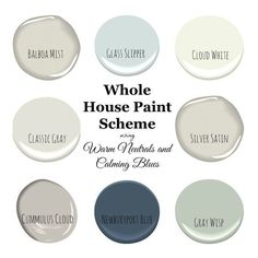 My Home Paint Colors: Warm Neutrals and Calming Blues - #Blues #Calming #colorful #Colors #Home #Neutrals #Paint #Warm