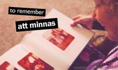 att minnas