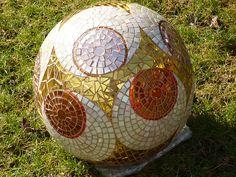 "Garden ball "" Viennese Walzer"" | by Mosaikstall Diameter 30cm or 12 inches - 3"