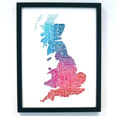 British Gastronomy Multi A2 42 x 59 cm by LucyLovesThis on Etsy, £32.00