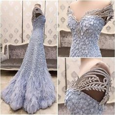 Uniquely Beautiful Off the Shoulder Gown