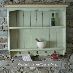 Large Painted Wall Rack - furniture