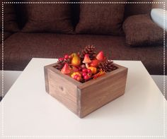 I love fall fall centerpiece Fall Decorations, Centerpieces, Strawberry, Autumn, Fruit, Ideas, Food, Products, Home Decor