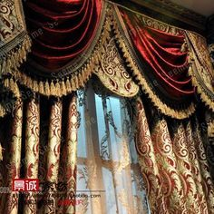 Curtains And Draperies, Luxury Curtains, Green Curtains, Velvet Curtains, Patterned Curtains, Custom Curtains, Valances, Victorian Gothic Decor, Victorian Windows