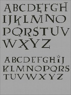 Harry Potter cross stitch font