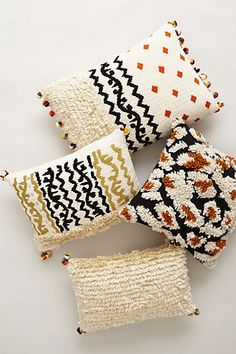 embroidered kosala moroccan throw pillows #anthrofave