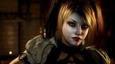I LOVE Harley Quinn so much! She's definitely my favorite DC character, and she looks amazing in Arkham Knight! Harley Quinn, Batman Arkham Knight Trailer, Ivy Look, Daddys Lil Monster, Comic Book Girl, Joker, Deadshot, Arkham Asylum, Batman Arkham Knight