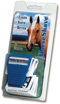 HorseShave Razor 2/Pack by Gifted Horse. $4.79. NEW! HorseShave razor when used as directed is a safe and efficient way to remove unwanted hair from face and muzzle of any equine. By design, HorseShave smoothly and softly follows the contours of the skin without applying pressure. HorseShave when slightly dulled by use is a very effective tool for removing bot fly eggs.  Reusable and disposable HorseShave razor is a great tool for last minute touchups.  2/package.