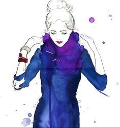 "seemakapoor: "" So chic, even in watercolour. """