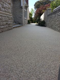Here we installed a resin bound gravel permeable path at Weston Supermare. Resin Driveway, Resin Patio, Driveway Paving, Driveway Landscaping, Resin Bound Gravel, Garden Spaces, Pavement, House Front, Dream Garden