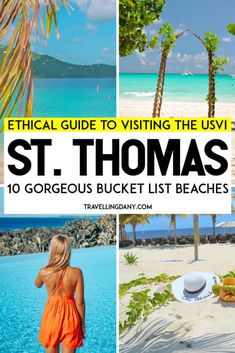 Complete ethical guide to visiting the best St Thomas beaches (USVI)! Let's see the best places to visit in St Thomas, with tips and info on how to be a conscious traveler, how to preserve the oceans and the sea turtles! Destin Beach, Beach Trip, Beach Travel, Beach Vacations, St Thomas Beaches, Travel Destinations, Travel Tips, Travel Ideas, Pretty Beach