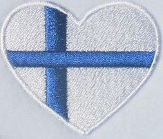 Denmark or Finland Heart Flag Embroidery Design | Apex Embroidery Designs, Monogram Fonts & Alphabets
