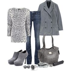 Gray Cheetah Print...This would go perfect in my closet:) Just sayin.....