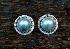 Sterling Mabe Pearl Bali Earrings by SmallWorldTreasures on Etsy, $65.00