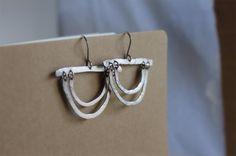 Handmade earrings hammered sterling kinetic by DuchessLeigh