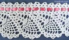 Crochet Lace Edging Pattern Hooks 19 Ideas For 2019 Crochet Edging Patterns, Crochet Lace Edging, Crochet Motifs, Crochet Borders, Crochet Trim, Crochet Designs, Simple Crochet, Stitch Patterns, Picot Crochet