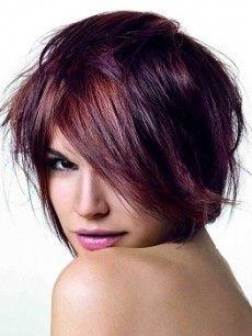 short purple hair!