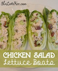 Chicken Salad Lettuce Boats Recipe - Easy, Fast, and Delicious! More