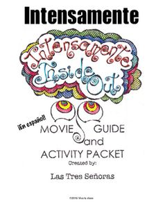 Inside Out is a fun way for students to practice listening skills and learn new words while watching a favorite Pixar movie! We have divided this movie 8 parts, with each part 10-15 minutes long. This 37 page activity packet includes:*Vocabulary list in Spanish/English*Buscapalabras with answer key*Matching vocabulary with answer key*Matching character descriptions with the characters' names and colors in Spanish with answer key*Concentracin game*Listening Comprehension questions to be…