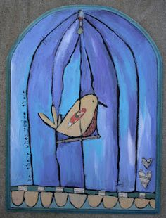 birds in a cage...