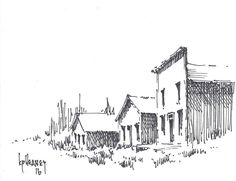 Drawing Montana Ghost Town #Impressionism