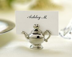 Love these teapot place card holders