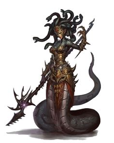 Grand Medusa - Pathfinder PFRPG DND D&D d20 fantasy